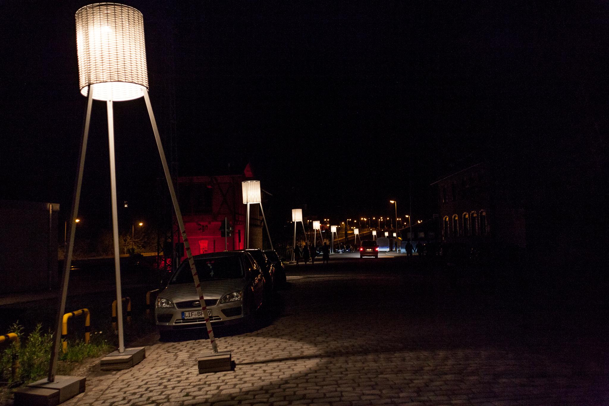 Lampen weisen den Weg