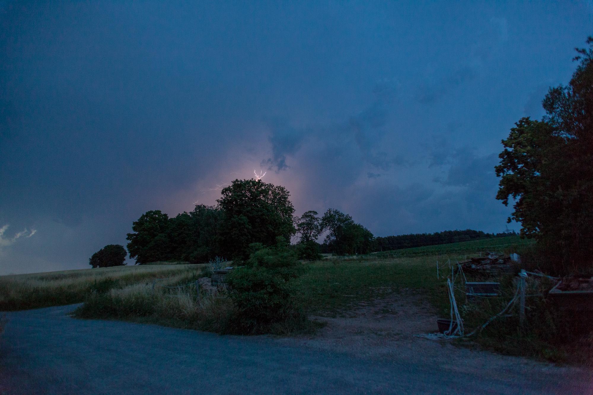 Gewitter über der Ernstfarm